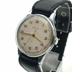 Sovietique-Homme-Classique-Pobeda-Mecanique-60s-Russie-Rare-Entretenu-Bracelet