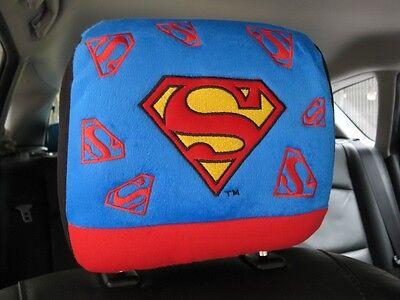 Superman Car Truck Accessory #Blue : 1 piece Head Rest Head Seat Cover