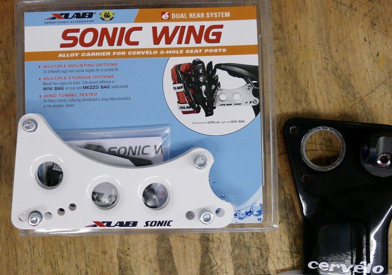XLAB Dual Rear System Sonic Wing Aluminum  ( Cervelo & QR ) White  comfortable