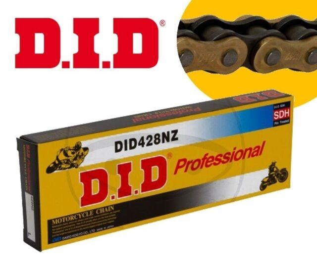 DID Cadena de Transmisión 428NZ 120 Integrantes Cierre Clip Gold-Black