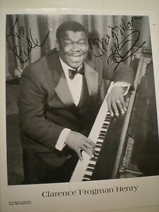 """SIGNED  PHOTO CLARENCE """"FROGMAN HENRY"""" """"AIN'T GOT NO HOME"""" NEW ORLEANS JAZZ -COA"""