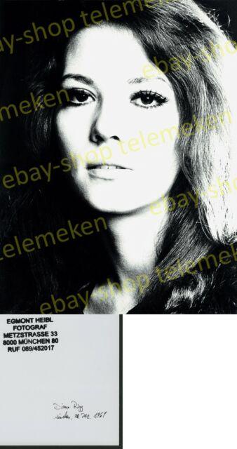 Orig. Foto Portrait Diana Rigg Studio Munich Avengers Emma Peel James Bond 1969!