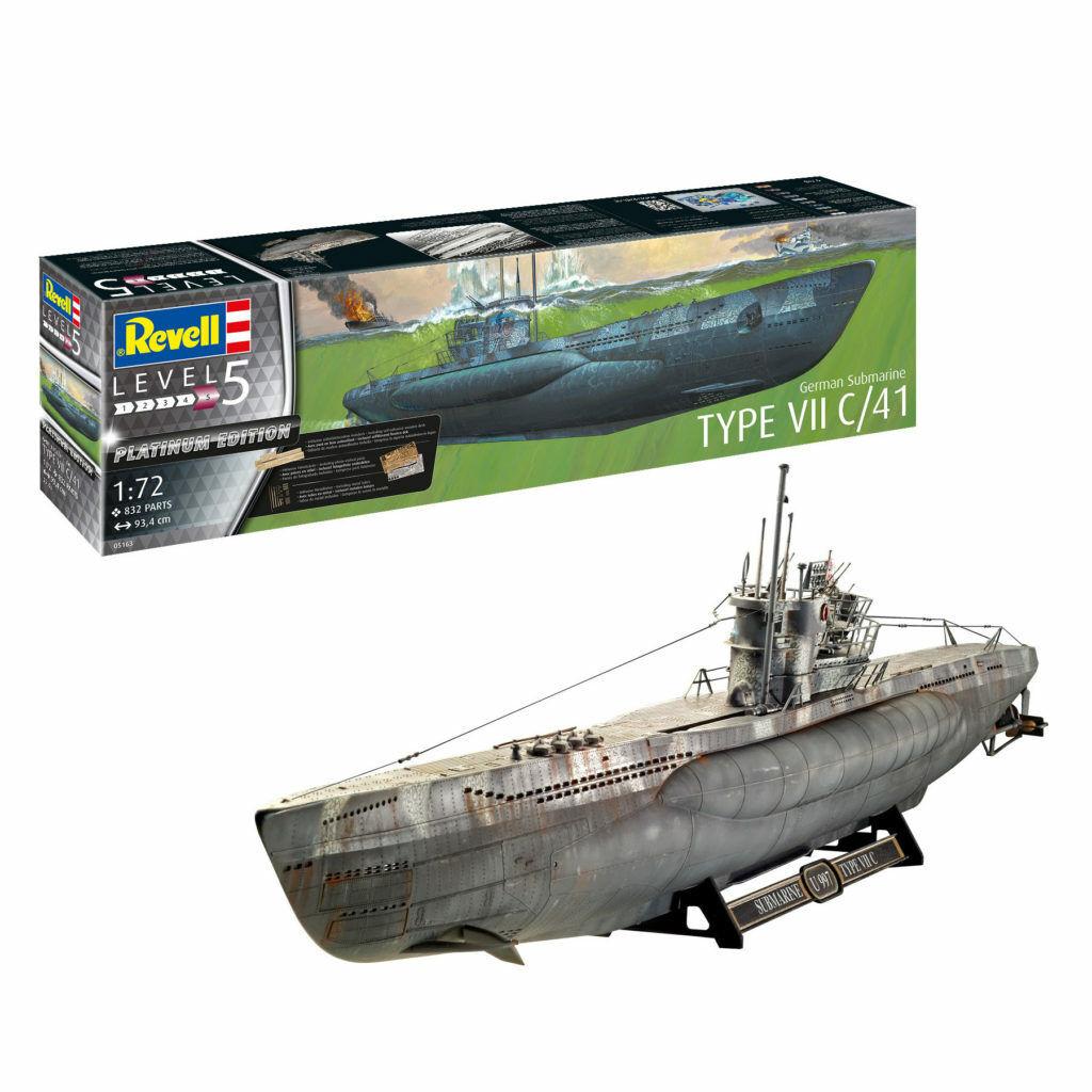 NEU Revell 05100 Deutsches U-Boot Typ VII C//41 Atlantik Version