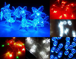 Battery-LED-Christmas-Fairy-Lights-20-LED-BLUE-Red-10-LED-Star-Snowflake-XMAS