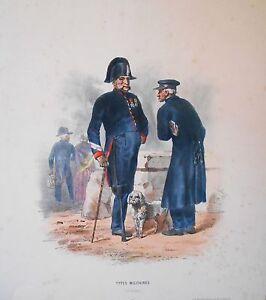 Lithographie Originale -types Mlilitaires - Invalides - H.lalaisse - Napoléon Toujours Acheter Bien