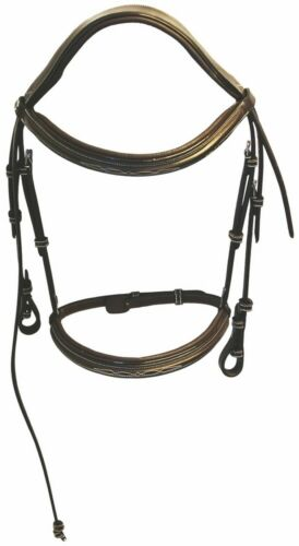 Henri de Rivel Pro Mono Crown Fancy Bridle with Patent Leather Piping