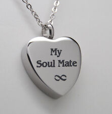 HEART CREMATION JEWELRY MY SOUL MATE HEART URN NECKLACE MEMORIAL KEEPSAKE URNS