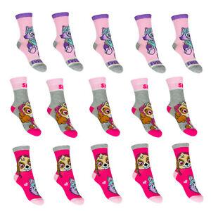 5-Paar-Paw-Patrol-Kinder-Socken-Maedchen-Struempfe