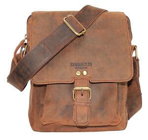 Dargelis-Leder-Tasche-Schultertasche-Handtasche-Flugumhaenger-Reise-braun
