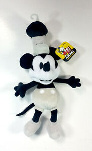 Disney-Store-Exclusive-2000-Steamboat-Willie-10-034-plush-Mickey-Mouse-Black-White