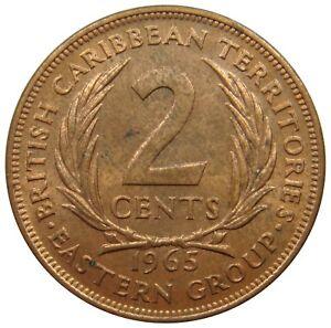 (a79) - Ostkaribische Staaten British Caribbean Territories 2 Cents 1965 - Km# 3
