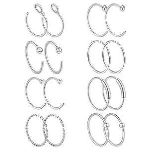 16PCS-20G-Stainless-Steel-Hoop-Nose-Rings-Tragus-Cartilage-Lip-Piercing-Jewelry