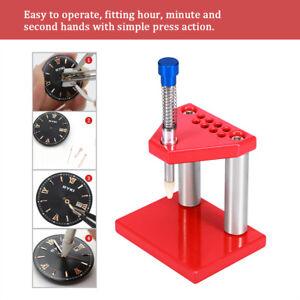 Watch-Hand-Presser-Fitting-Uhrmacher-Abzieher-Kolben-Reparatur-Werkzeug-mit-Matrizen-Set
