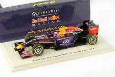 Daniel Ricciardo Infiniti Red Bull RB10 #3 Australia GP Formel 1 2014 1:43 Spark
