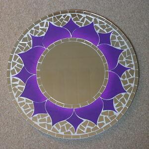 Details Zu Superb Hand Gefertigt Mosaik Spiegel Orientalisch Design Lila Farbe 40 Cm Breit