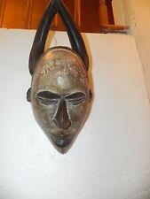 "Arts of Africa - Yoruba Mask with Horns  - Nigeria - Togo - 17"" H X 7""W"