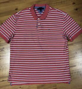 222a93bf Tommy Hilfiger Mens Size XXL Pink Polo Shirt Short Sleeve Flag Logo ...
