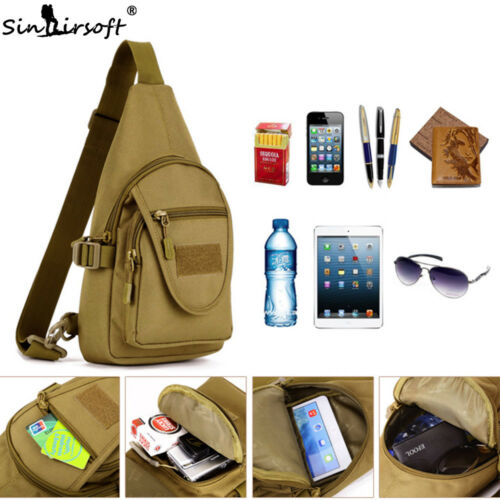 Men Tactical Sling Chest Backpack Messenger Pack Molle Camping Shoulder iPad Bag