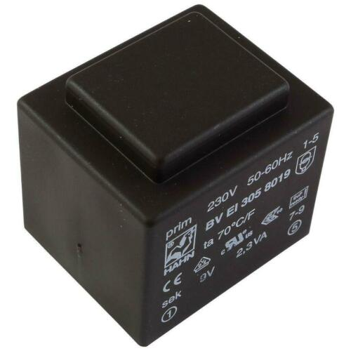 Hahn BVEI 3058019 Print-Transformateur 2,3va 230 V 9 V 255 mA transformateur 0,4 W 856479