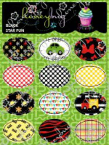 Honeybug MAGNETIC reborn doll PACIFIER Black Star FUN SPRINKLES sheet 12 decals