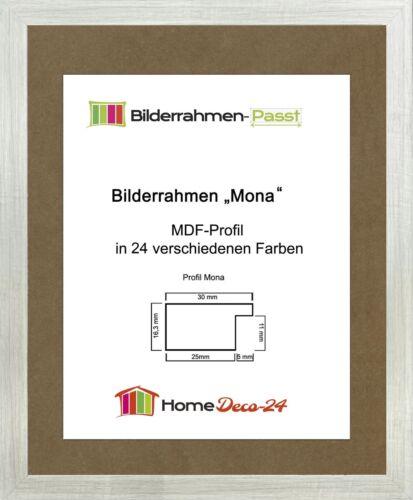 Mona 43 x 61 cm Bilderrahmen Homedeco 24 Holzwerkstoff Wahl Farbe Verglasung