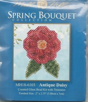 Spring Collection Antique Daisy Flower Glass Bead Treasure Mill Hill Kit