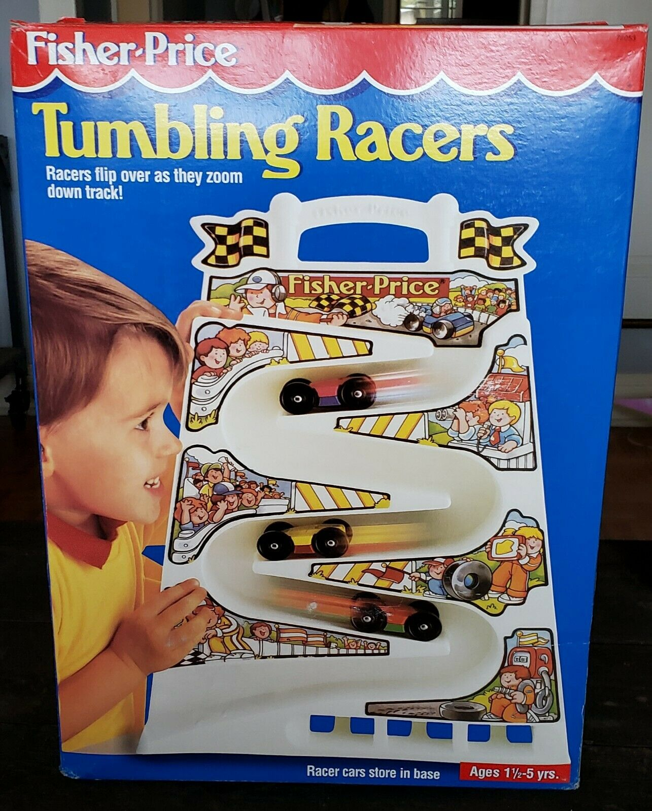 Vintage 1991 Fisher Tumbling Racers Race Car Track 2053 Toy With 3 Cars For Sale Online Ebay