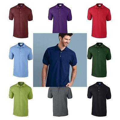 Men/'s Gildan Ultra Cotton 3800 Pique Polo Shirt Short Sleeve t shirt Sizes S-2XL