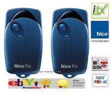 2 X  NICE FLO1 Button Key Fobs Remote Control Electric Gate Fob with DIPSWITCHES