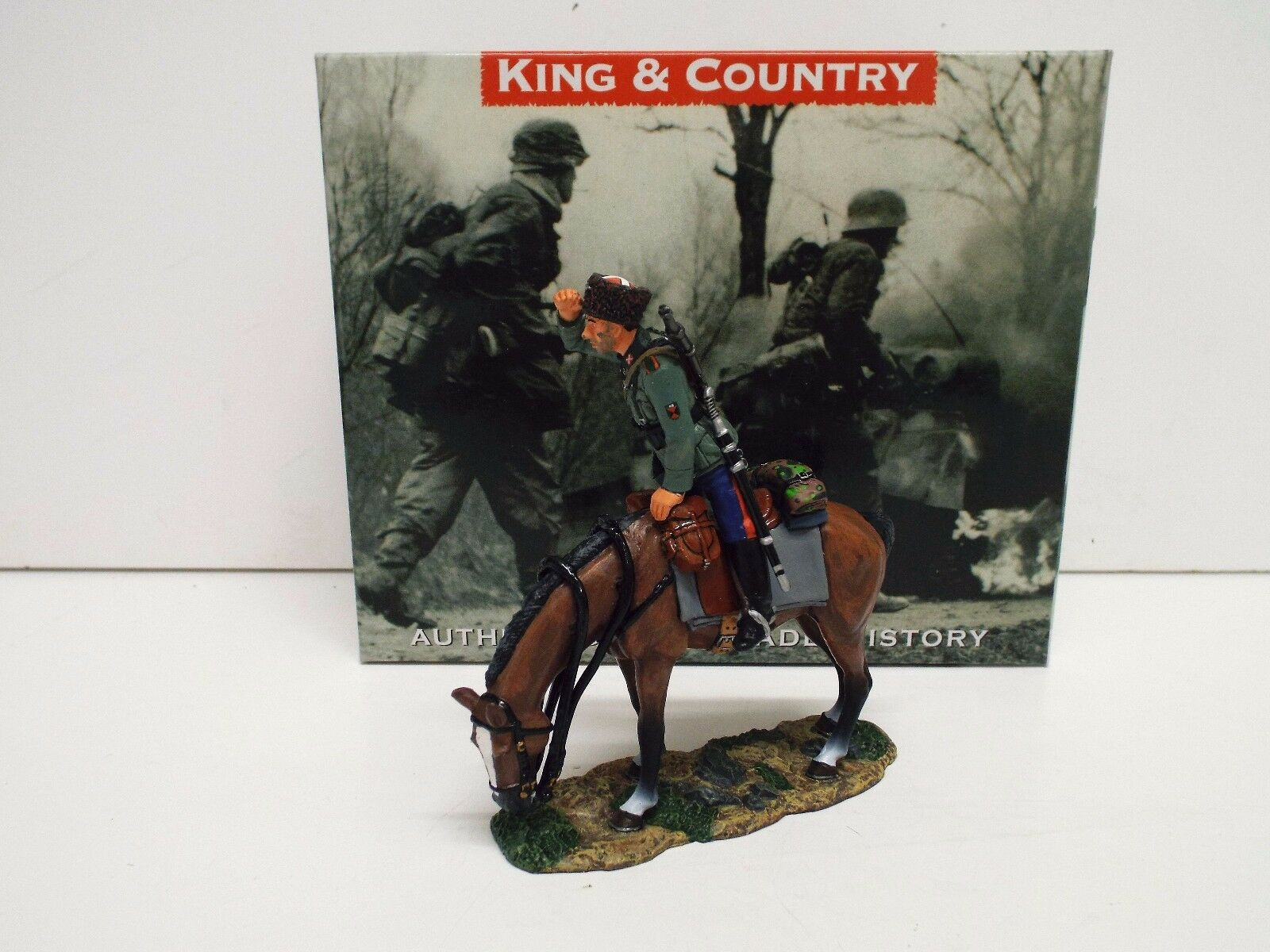 KING AND COUNTRY WSS144 WW2 MOUNTED COSSACK COSSACK SCOUT RETIRED BOXED (BS2119)
