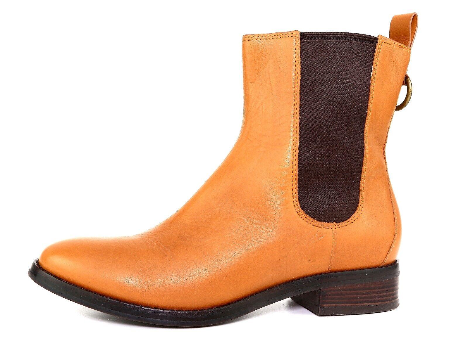 Cole Haan Evan Short Leather Boot Tan Brown Women Sz 7.5 B 5679