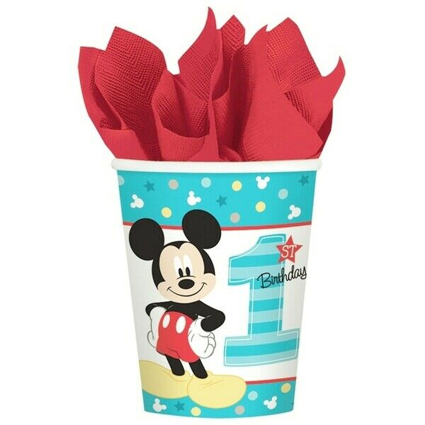 Mickey Mouse 1st Birthday 9oz. Paper Cups Pk 8