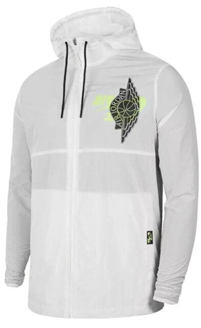 Nike Air Jordan White jacket Men's Jumpman Wings Classics BQ8476 100 Sz Large L