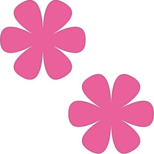 Pegatinas 2 8cm Pink flor muro florecitas puerta muebles infantiles auto tatuaje lámina decorativa