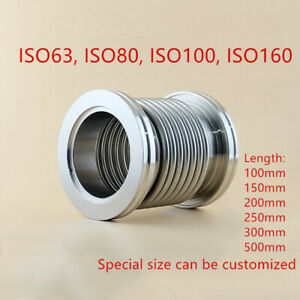 ISO-K-High-Vacuum-Flexible-Bellows-Stainless-Steel-Hose-Tube-ISO63-ISO80-ISO100