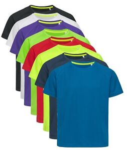 Active-Dry-Childs-Boys-Girls-Plain-Breathable-Polyester-Mesh-Sports-Tee-T-Shirt