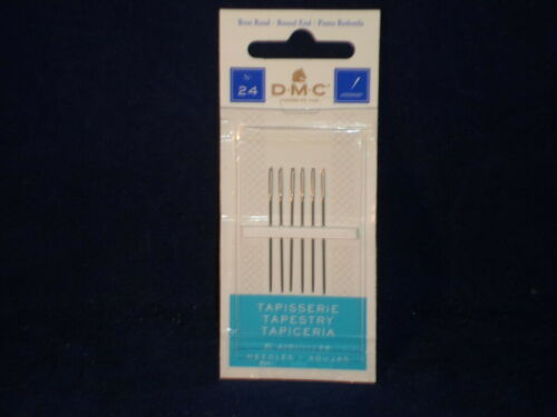 DMC  Tapestry Hand Sewing Needles 6-Pack Size 24 Nickel Plated              D7-1