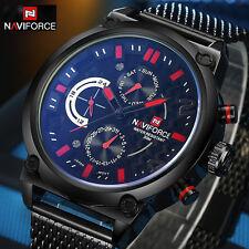 Montre Naviforce Militaire Homme Bracelet Métal Date US ARMY Fashion PROMO
