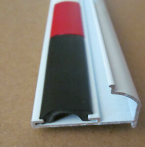 96 Quot White Aluminum Vinyl Insert Gutter Drip Rail Trim 1 1