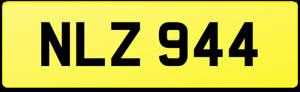 NLZ 944 PORSCHE DATELESS REG NUMBER PLATE S2 COUPE POR CABRIOLET S TURBO NEIL NL