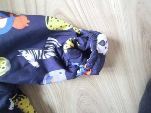 Ex M/&S Baby Boys Navy Blue Animal Zoo Snowsuit All in One Age 3 6