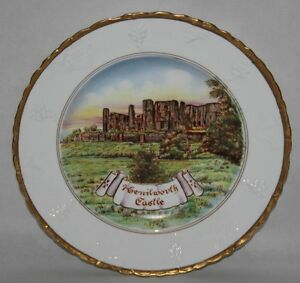 "Mercian China - Handpainted 10 1/4"" Plate - Kenilworth Castle"