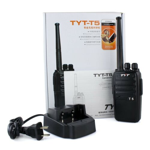 Walkie Talkie TYT T5 UHF400-520MHz 16CH TOT Two Way Radio Monitor Transceivers