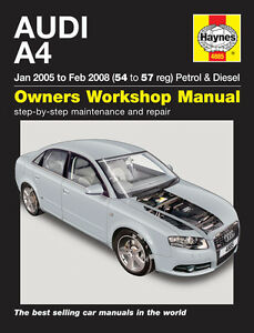 haynes manual 4885 audi a4 b7 avant 1 8 se 2 0 turbo 1 9 2 0 tdi rh ebay com audi b7 manual audi a4 b7 repair manual pdf