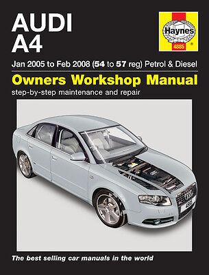 54 to 57 Haynes Online Manual Jan 2005-Feb 2008 Audi A4 Petrol /& Diesel