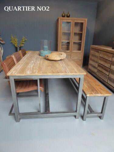 Teak Tisch Massiv Teaktisch Esstisch Untergestell Eisen Vintage