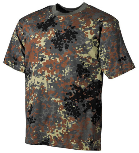 BUNDESWEHR BW German Army camouflage short sleeve tshirt shirt Medium