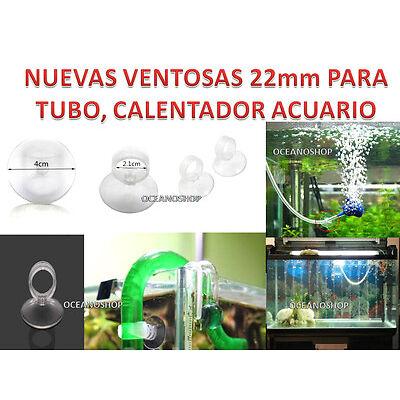 Pack de 2 VENTOSAS 22 mm diametro para Tubo y Calentadores bomba acuario