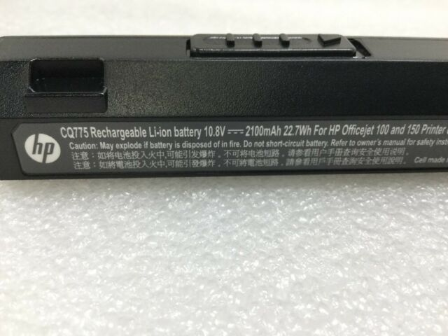 Genuine HP OfficeJet 100 /& 150 Rechargeable Printer Battery CQ775 Lithium Ion