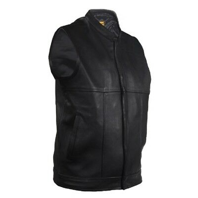 Renegade Classics Mens Combo Leather//Denim Motorcycle Vest